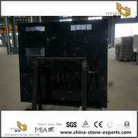 Hot sale China black marble Ice Black Flower for slab and tile
