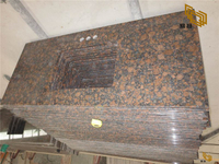 Baltic Brown Granite Bathroom Vanity Tops for Hotel (YQW-11030C)