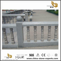 Natural Stone Grey Granite Baluster Railing For Outdoor Project