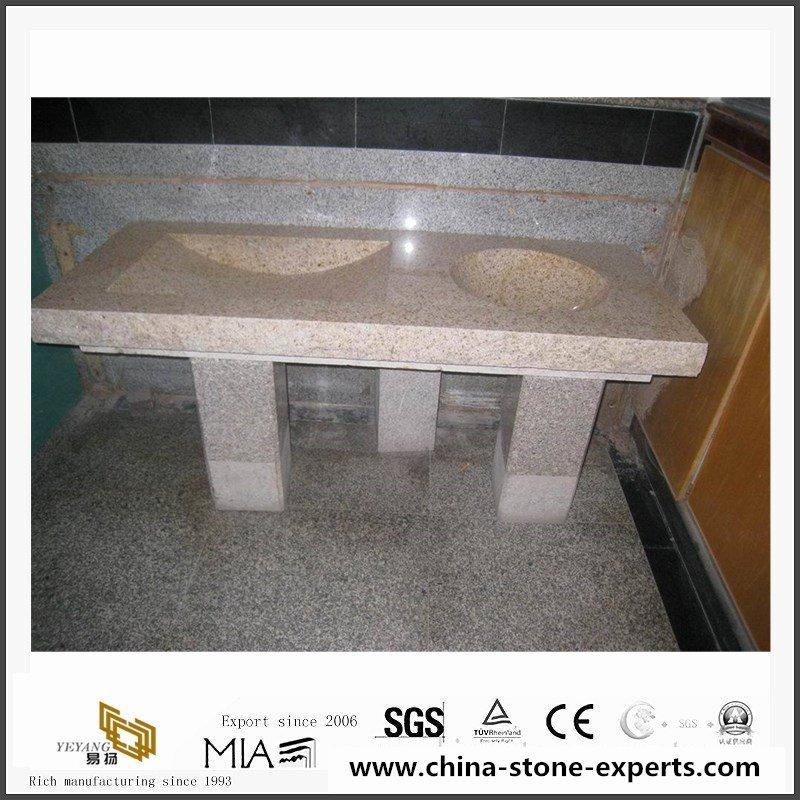 Cheap China G682 Yellow Granite Kitchen Countertop, Vanity Tops7