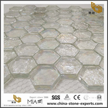 Glass Mosaic Clear Transparent Colourless Mesh Design Mosaic