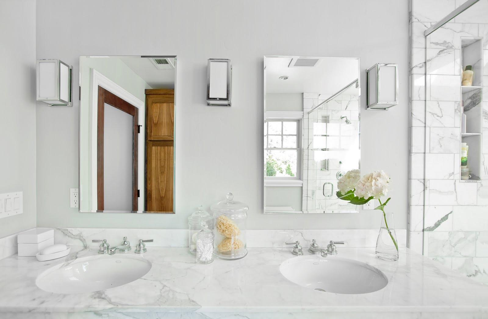 White Carrara Marble Bathroom vanity tops 01