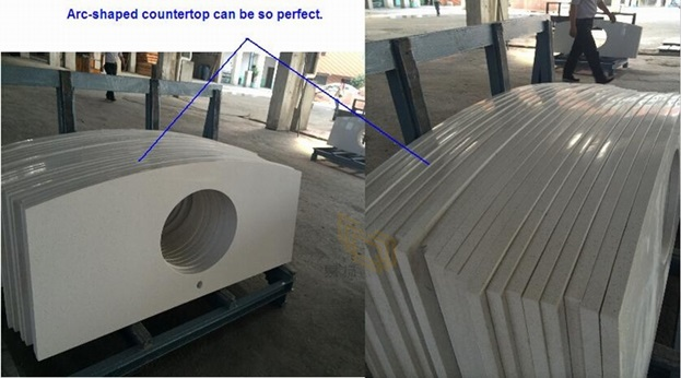 Arc-shaped countertop looks so perfect. 0011