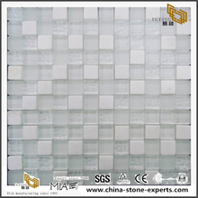 Decor Wall Tile White Crystal Stone Mosaic Mixed Feeling Tile