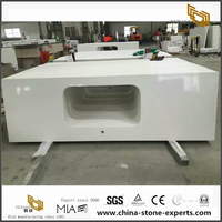 Popular pure white quartz countertop for kitchen and bathroom