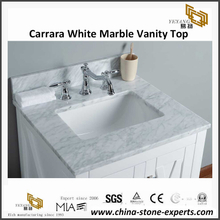 Carrara White Marble Bathroom Vanity Top for hotel project