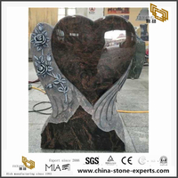 Heart Shaped Memorial Plaque in Granite