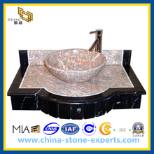 Polished Hand Washing Granite Bathroom Sink (YQG-GC1008)