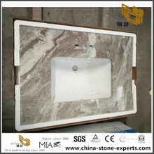 Fantasy Brown Marble Vanity Top for Your Project
