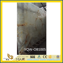 SGS White / Yellow Natural Stone Onyx for Background