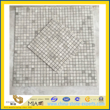 Artic Silver Grey Marble Stone Mosaic for Bathroom (YQZ-M)