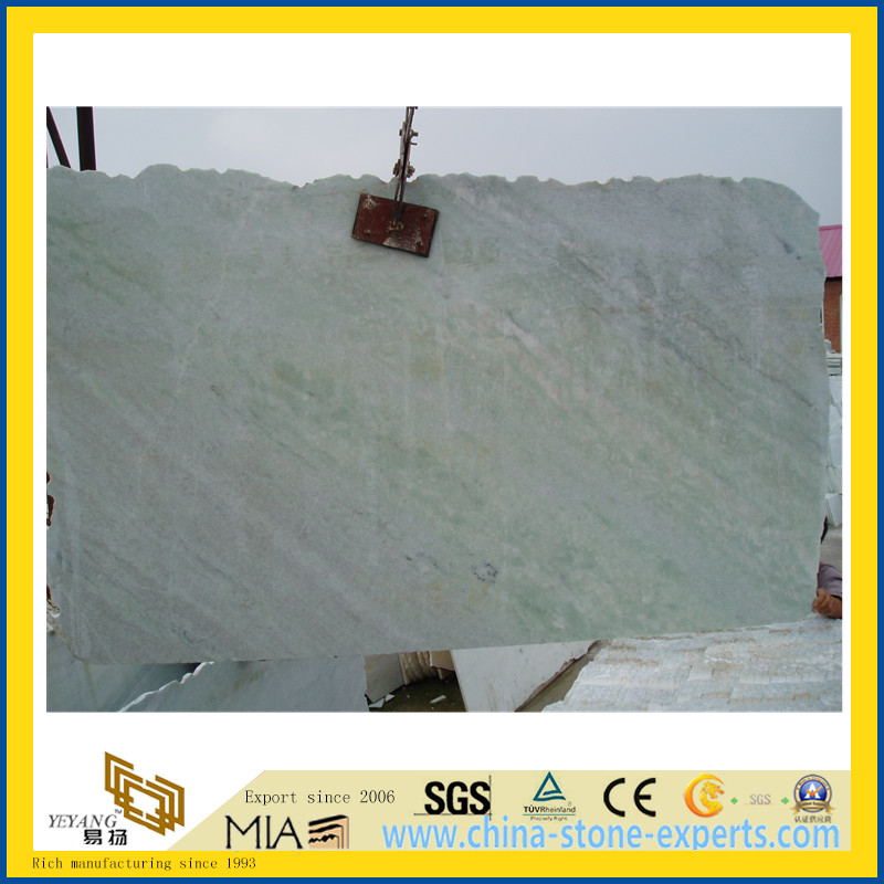 Chinese Ming Green Marble Slabs for Countertop