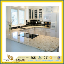 Natural Stone Polished Spray White Granite Countertop for Kitchen/Bathroom (YQC)
