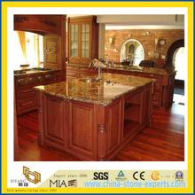Natural Stone Polished Tan Brown Granite Countertop for Kitchen/Bathroom (YQC)