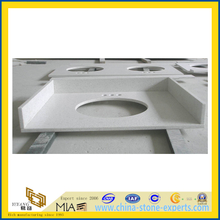 White Quartz Vanity Tops for Hotel Bathroom Projects (YQC)