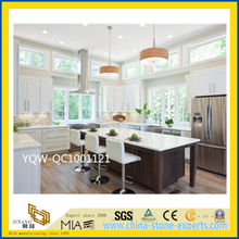 White/Yellow Solid Artificial Stone Engineered Quartz Countertop for Kitchen/Hotel