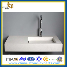 Pure White Artifical Quartz Vantity Top for Bathroom
