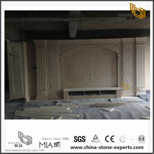 Diy White & Beige Marble Backgrounds for Hotel Design (YQW-MB0726022)