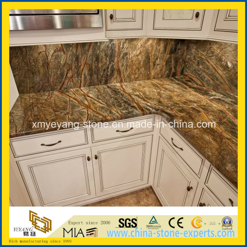 Rain Forest Green Marble Slab for Countertop or Flooring