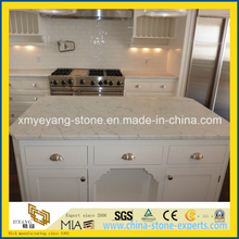 Prefabricate Bianco Carrara White Marble Kitchen Island