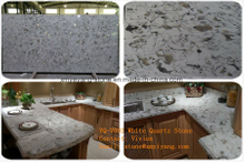 Alaska White Quartz Stone for Slabs, Countertop, Table Top (YYCV)