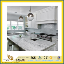 Natural Stone Polished White Marble Countertop for Kitchen/Bathroom (YQC)