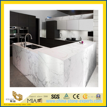 Natural Stone Polished Crystal White Marble Countertop for Kitchen/Bathroom (YQC)