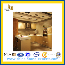 Artificial Quartz Bathroom Vanity Top & Kitchen Countertop (YQA-QC1003)