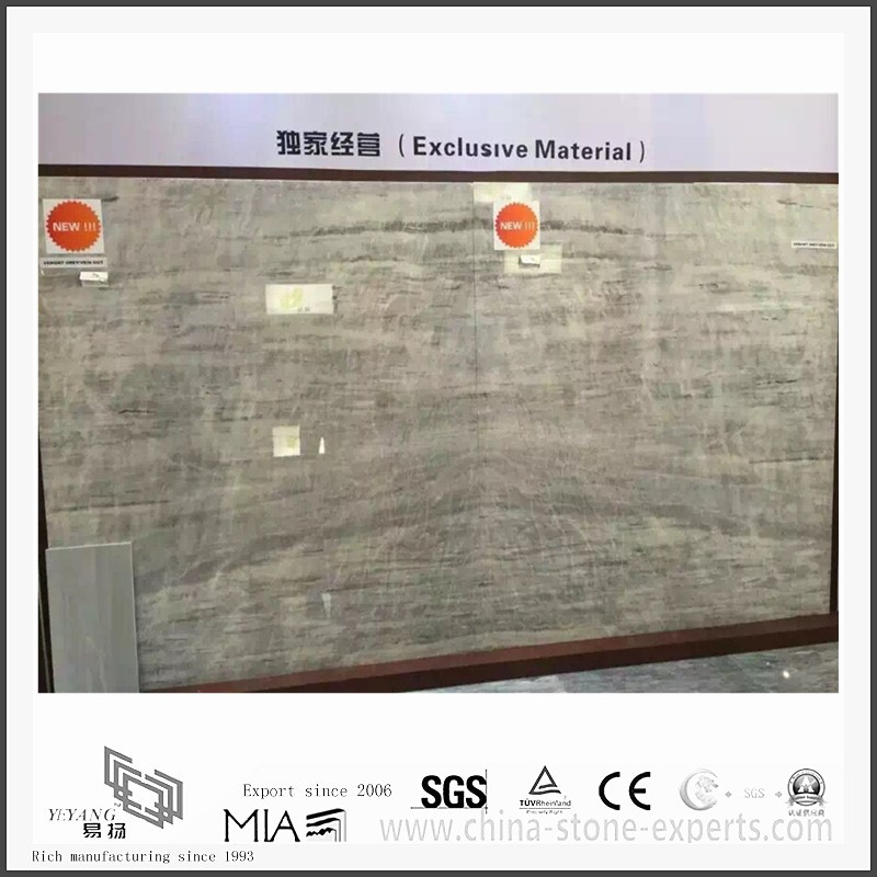 Highly Competitive New Vermont Grey Marble for Hall Background or Wall Tiles (YQW-MS311208)