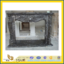 Nero Marquina Freestanding Indoor Marble Fireplace(YQC)