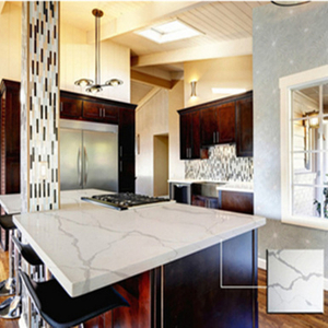 White Calacatta Quartz Countertops for Kitchen