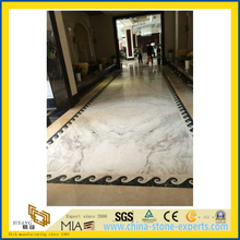 China Polished Castro White Marble tile for flooring(YQW)