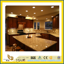 Natural Stone Polished Gold Sunset Granite Countertop for Kitchen/Bathroom (YQC)