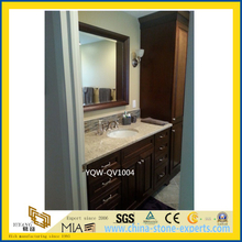 Grey Artificial Quartz Bathroom Vanity Tops for Home, Hotel
