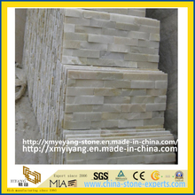 White Quartz Cultured Slate Stone for Wall Cladding, Decoration