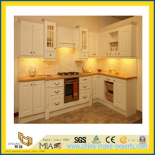 Natural Stone Polished Yellow Wooden Marble Countertop for Kitchen/Bathroom (YQC)