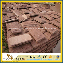 Red Sandstone Mushroom Tile for Exterior Wall Cladding