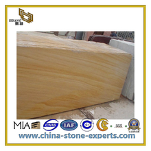 Yellow Woodvein Honed Sandstone for Flooring tiles(YQC)