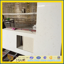 pure white/black quartz countertop for kithchen,bathroom(YQT)