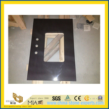 Dark Chocolate Quartz Stone Vanity Top for Indoor Decoration