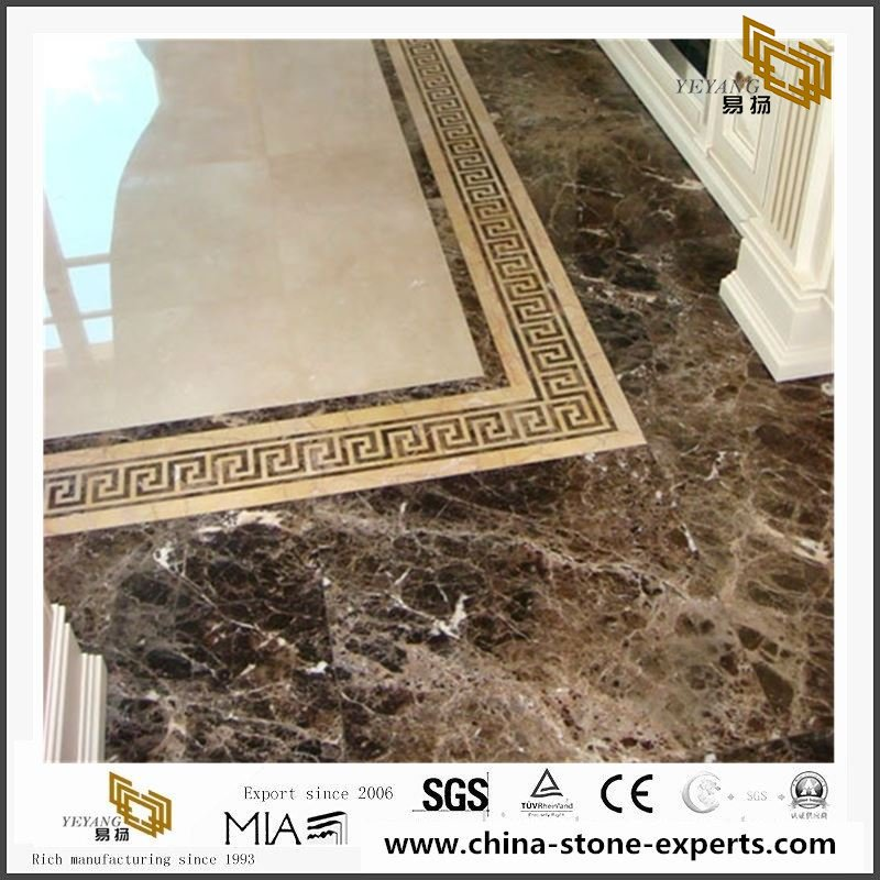 China Dark Emperador Marble Slabs Tiles With Price